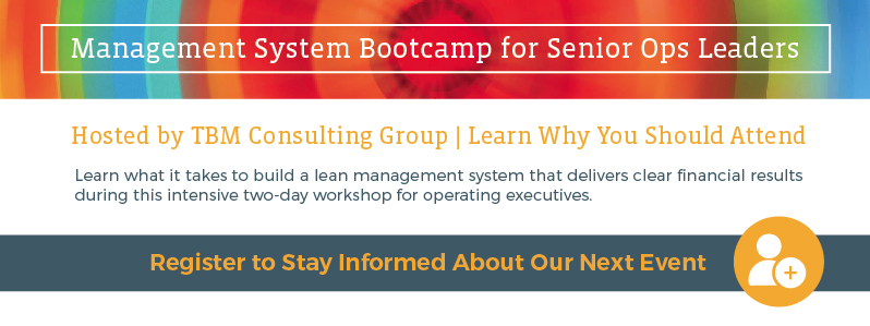 TBM Lean Management System Training Bootcamp - Register Now!