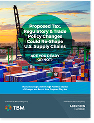 Supply Chain Report-Impact of Trade, Tax and Policy Changes